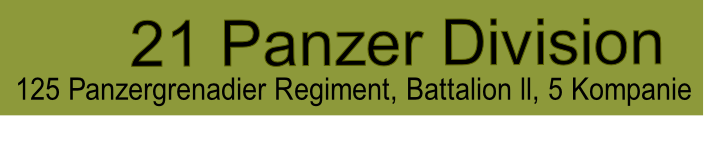 125 Panzergrenadier Regiment, Battalion ll, 5 Kompanie